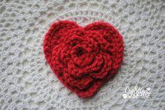 adorable free crochet heart pattern