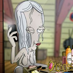 a3f0b94c Roger from American Dad as The Red Woman American Dad Roger, Good Morning  Usa,