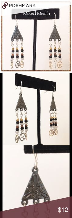 """3 Pair for $15 - You Choose Just a little bit of Steampunk. Earrings dangle 2.5"""". French wires. Steampunk Grandma Jewelry Earrings"""