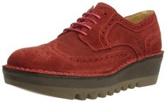44 € FLY London Jane, Chaussures de ville femme, Rouge - Rouge, 37