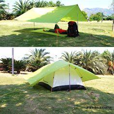 Ultralight Nylon Tarp for Camping - Waterproof Tent Tarp Hammock Tarp, Tent Tarp, Camping In The Rain, Camping Gear, Large Tarps, Waterproof Tarp, Rain Shelter, Ultralight Backpacking, Enjoying The Sun