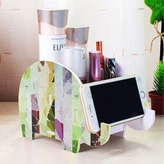 Mokani Desk Supplies Organizer, Creative Elephant Pencil Holder Multifunctional Office Accessories Desk Decoration with Cell Phone Stand Tablet Desk Bracket for iPad iPhone Smartphone and More - Best Seller List Cute Cubicle, Work Cubicle Decor, Work Desk Decor, Cute Office Decor, Cute Office Supplies, Desk Supplies, Office Cubical Decor, Cubicle Organization, Office Desk