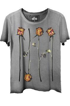 9f4eb869cf Camiseta+estonada+Flowers Camisetas Masculinas