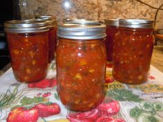 I love Chic chis Fiesta Style Salsa and was looking for a recipe on here that was similar and I couldnt find one.  I canned Wonderful Salsa, recipe #9272 last year and LOVED it, so I created my own Fiesta Salsa.  I would like to thank Jazze22 for sharing her Wonderful Salsa recipe.  I will post the recipe as I made it, I did make a couple changes from the original recipe.  I hope if you try it, that you like it as much as I do.  To cut the heat remove the veins and seeds.  Also, wear gloves…