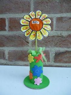 thema: Moederdag --- een bloemetje voor mama voor meer knutselwerkjes of kinderliedjes neem een kijkje op http://peuterknutsels.blogspot.be/