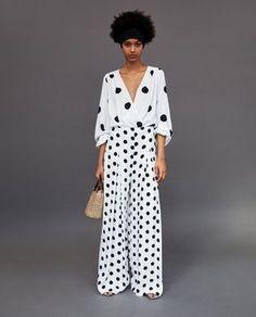 Women's New In Clothes Vestidos Zara, Dots Fashion, Zara Fashion, Polka Dot Pants, Polka Dots, Polka Dot Outfit, Zara Mode, Moda Zara, Pantalon Long