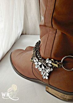 Magnolia Boot Jewelry, Wedding Boot bling, romantic country boot bracelet by WanderingRoseCo on Etsy!  +Pin for later.