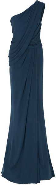 elie saab One Shoulder Draped Gown - Lyst I want to have fancy events to wear this to