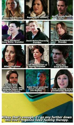 Once Upon A Time poor Henry but Regina should be mother/step grandmother and Cora should be great grandmother