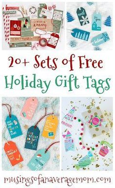 More than 20 sets of free printable Christmas and holiday tags! Holiday Gift Tags, Holiday Crafts, Free Christmas Printables, Free Printables, Stationery Items, Gift Tags Printable, Printable Designs, Holiday Activities, Christmas Love