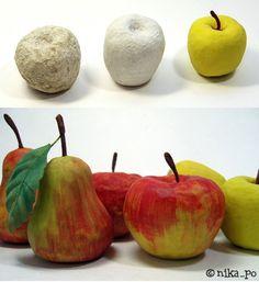 яблоко из папье маше своими руками