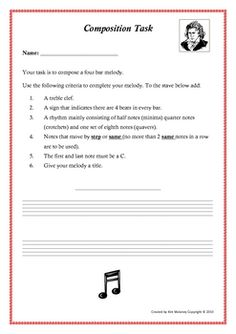 Music: Composition task for young composers!