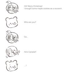 hetalia christmas podcast. italy standing up for canada X3