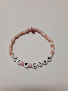 Kpop Fashion, Cute Fashion, Cute Bracelets, Beaded Bracelets, Bts Bracelet, Diy Jewelry, Jewelery, My Big Love, Hello To Myself
