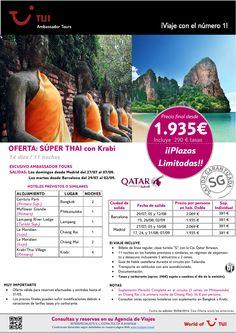 ¡Plazas limitadas! Oferta Súper Thai con Krabi 14 días/ 11 noches. Precio final desde 1.935€ ultimo minuto - http://zocotours.com/plazas-limitadas-oferta-super-thai-con-krabi-14-dias-11-noches-precio-final-desde-1-935e-ultimo-minuto/