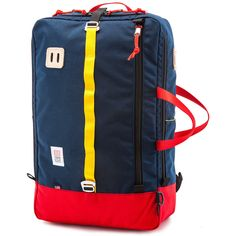 Topo Designs Travel Bag Backpack   Red/Navy