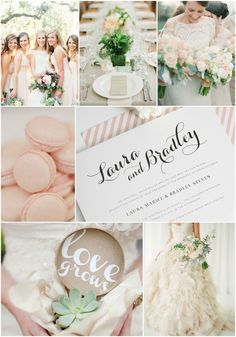 Romantic Garden Wedding Inspiration in blush and sage - don't you just love the colors?