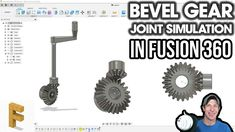 Continuing our series on creating joint simulations in Autodesk learn how to create a working bevel joint simulation in Fusion 360, Bevel Gear, Science And Technology, Gears, 3d Printing, Cad Cam, Milling, Grinding, Autocad