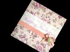 Vintage Rose Wedding Invitation Sample by ChosenTouches on Etsy, £2.90