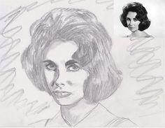 how to draw a portrait without knowing to draw -  Liza -  by JohnKarnaras