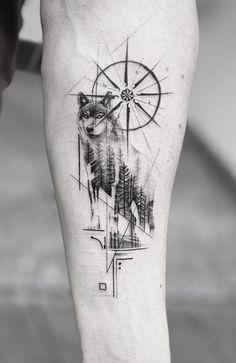 Wolf Pack Tattoo, Lone Wolf Tattoo, Tribal Wolf Tattoo, Wolf Tattoo Sleeve, Tribal Sleeve Tattoos, Wolf Tattoo Design, Best Sleeve Tattoos, Tribal Tattoo Designs, Chest Tattoo