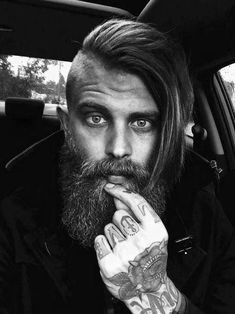 Guys Undercuts Long Hair Haircuts With Beard