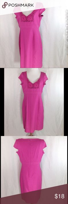 Perfect for Easter-Linen/Cotton Chadwicks Dress Just in time for Easter!! A pretty fuchsia pink dress by Chadwick. NWOT Material is a linen/cotton mix. See pic 6 for measurements. Measurements are approximate with garment laying flat. Chadwicks Dresses Midi