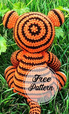 Tomás el tigre libre amigurumi Patrón Part 4 ;, Tomás el tigre libre amigurumi Patrón Part # ✂❤ Crochet Motifs, Crochet Patterns Amigurumi, Amigurumi Doll, Crochet Toys, Free Crochet, Easy Knitting Projects, Crochet Projects, Knitted Teddy Bear, Hand Knitted Sweaters