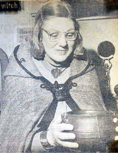 """Doreen Valiente was perhaps one of the most respected English witches to have influenced the modern day movement of Witchcraft.  She was an early initiate and High Priestess of Gerald Gardner and did much to co-write with him the basic rituals and other materials that helped to changed and shaped contemporary Witchcraft as it is perceived today.  As Gerald Gardner is now commonly thought of as the """"Father"""" of contemporary Witchcraft, so Doreen is known affectionately as the """"Mother""""."""