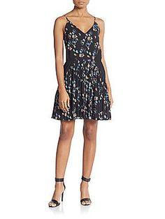 Rebecca Minkoff Refraction Dress - Black  - Size