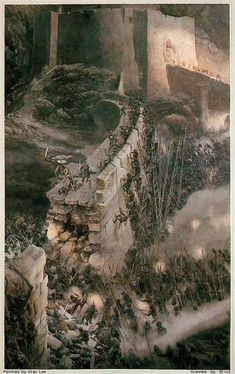 The Helm Pit, one of the few depictions of battle by Tolkien artist but very well done!!!