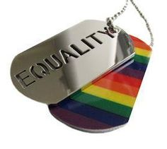 2pc. Equality Rainbow Dog Tag - Gay & Lesbian LGBT Pride Necklace