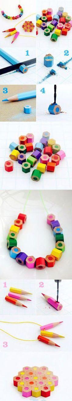 DIY #Recup - Comment recycler les vieux crayons de couleur... Une bonne idée cadeau pour remercier la maitresse !