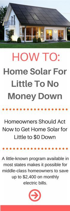 I've found that not a lot of people know that they can switch to solar energy and actually save money. It's quite common to be able to get the solar panels for no money down. However, you must be a homeowner. Renewable Energy, Solar Energy, Solar Power, Wind Power, Solar Panels For Home, Solar Installation, Solar House, Up House, Tiny House