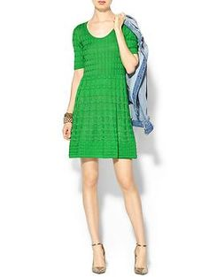 M Missoni Short Sleeve Knit Dress | Piperlime  I LOVE this. Like would wear this all the time. My favorite color ever.