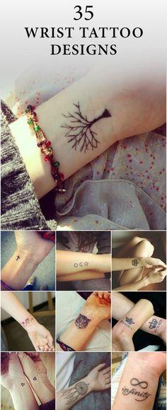 35 Inspiring Cool Wrist Tattoos For Men & Women To Get Now 35 Inspiring Cool Wr. - 35 Inspiring Cool Wrist Tattoos For Men & Women To Get Now 35 Inspiring Cool Wrist Tattoos For Men - Wrist Tattoos For Guys, Small Wrist Tattoos, Foot Tattoos, Girl Tattoos, Flower Tattoos, Diy Tattoo, Tattoo Fonts, Tattoo Ideas, Tattoo Quotes