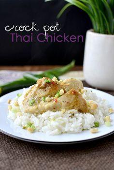 Crock Pot Thai Chicken | iowagirleats.com