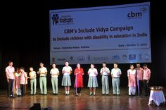 A moment from the INCLUDE VIDYA CAMPAIGN Function ,where I am singing an original song along with Blind students and Signing of the song by Students from the Oral School for Deaf Children , Kolkata .