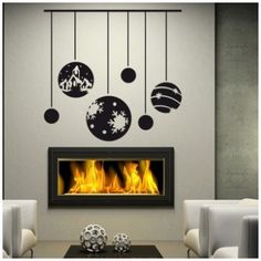 """Style and Apply Christmas Ornaments Wall Decal Color: Brown, Size: 21"""" H x 24"""" W"""