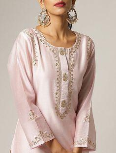 Women's kurtis online: Buy stylish long & short kurtis from top brands like BIBA, W & more. Explore latest styles of A-line, straight & anarkali kurtas. Kurti Embroidery Design, Embroidery Fashion, Embroidery Dress, Hand Embroidery, Embroidery Online, Neckline Designs, Dress Neck Designs, Blouse Designs, Silk Kurti