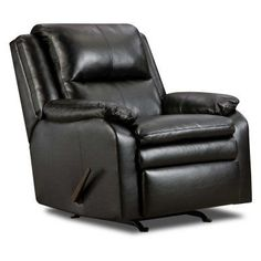 Simmons Soho Bonded Leather Rocker Recliner - 566- ESPRESSO, Durable