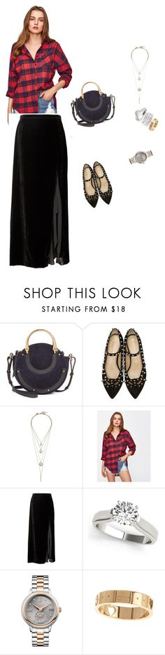 """""""plaided"""" by sangsangi876 ❤ liked on Polyvore featuring Chloé, Charlotte Olympia, Lucky Brand, Banana Republic, Vivienne Westwood, Gucci and Sole Society"""