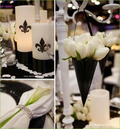 Wedding, Reception, White, Black, And - Photo by BarnettPhoto