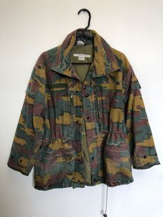 1f6ff9837d22c6 Belgian M1990 Jigsaw Pattern Field Jacket- Size Medium-Short- Used Field  Jacket,