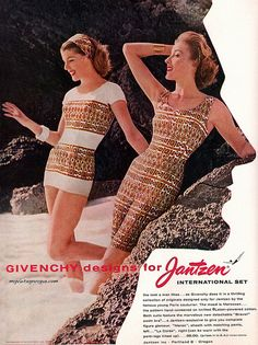 vintage everyday: Vintage Swimwear Fashion from 1930s to 1950s   Old Advertising