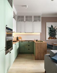 Kitchen Colors, Kitchen Design, Modern, Kitchen Cabinets, Interior Design, Architecture, Home Decor, Ideas, Behance