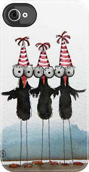 I love these crows, such party birds right!