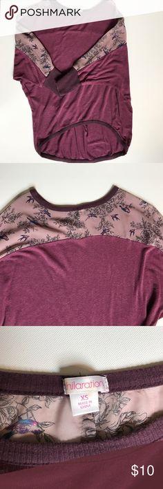 High low top Lightly worn, little pilling Xhilaration Tops Sweatshirts & Hoodies