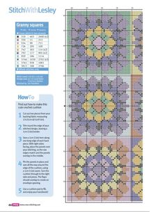 Cross Stitch Crazy 189 - Crochet Away (Cross Stitch Granny Squares...would look amazing as a quilt.) on my to-do list! 3/4