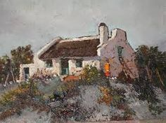 Image result for cape dutch houses Landscape Art, Landscape Paintings, Oil Paintings, Fishermans Cottage, Cape Dutch, Dutch House, South African Artists, Beach Art, Science And Nature